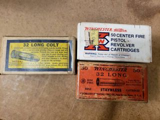 3 Boxes 32 long Ammo