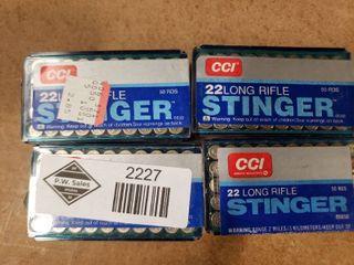 4 Boxes CCI  22 lR Ammo