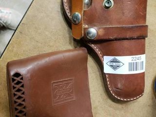 leather Gun Holster and Super X Rubber Butt Pad