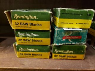 5 Boxes of 32 Smith and Wesson Blanks