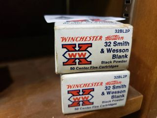2 Boxes of 32 Smith and Wesson Blanks