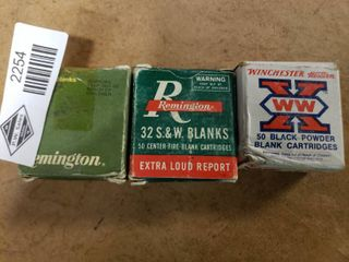3 Boxes 32 Smith and Wesson Blanks