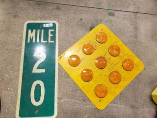 lot of 2 Metal Road Signs