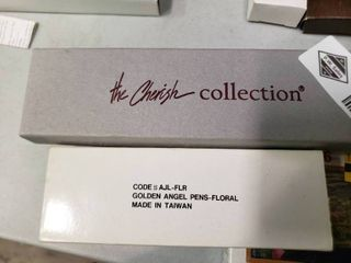 Golden Angel Floral Pen and 3 Cherish Collection Bracelets