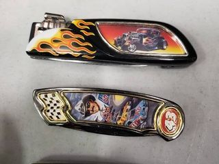 lot of 3 Franklin Mint Car Themed Collectors Knives