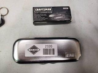 Craftsman Pocket Knife and Tire Pressure Gauge