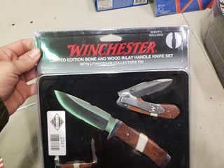 Winchester limited Edition Bone in Wood Knife Set
