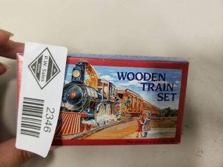 Magnetic Wooden Train Set