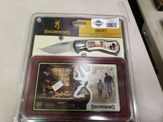 Browning Pocket Knife and Tin