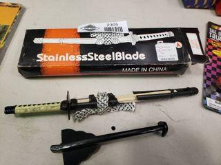 Stainless Steel Samurai Sword letter Opener