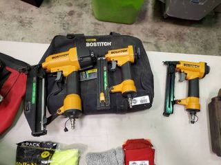 3 like New Bostitch Nail Guns and Carrying Bag