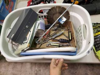 laundry Basket of Misc  Tools