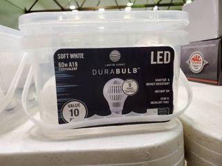 Box of Soft White lED Durabulbs