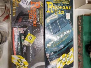 lot of 2 Collectible Remington Racecar Tins