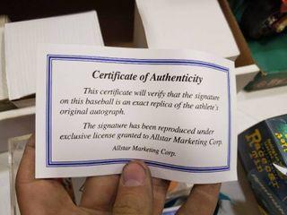 lot of 4 Signed Baseballs