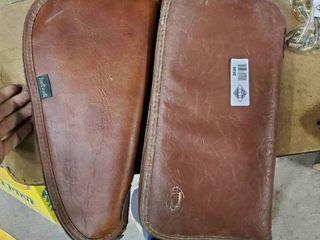 2 leather Handgun Cases