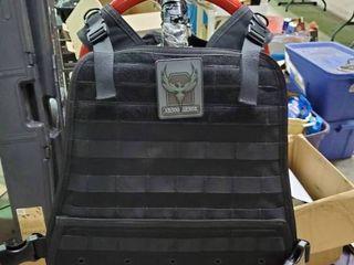 AR500 Body Armor  Bullet proof vest Condor Plate Carrier with 10 x12  Flat ASC AR500 level 3 Plates