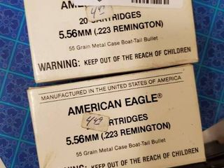 2 Boxes American Eagle 5 56 mm Ammo