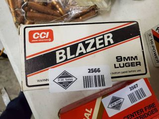 Box of Blazer 9 mm luger Ammo