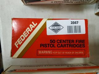 Box of Federal 9 mm luger Ammo