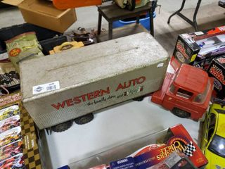 Vintage Western Auto Semi and Trailer Metal Toy