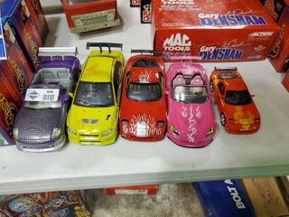 lot of 5 The Fast and The Furious Model Cars