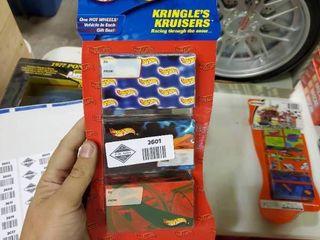 2001 Hot Wheels Kringles Kruisers 3 Pack Gift Set