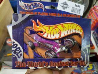 Hot Wheels 2 Decks of Playing Cards in Collectible Tin