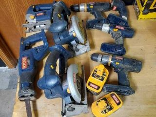 18V Ryobi 8 Piece Tool Set with 2 Batteries