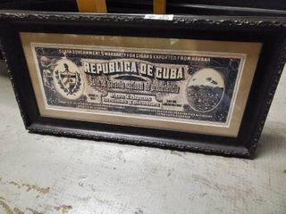 Framed Cigar Poster