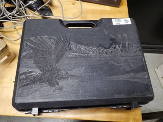 Hard Plastic Gun Case with Eagle Design