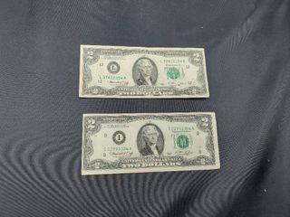 lot of 2 1976  2 Bill