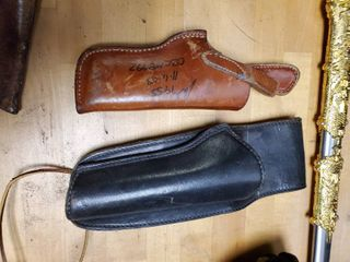 lot of 2 leather Gun Holsters