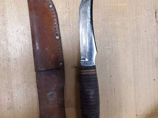 Caber Knife with leather Sheath