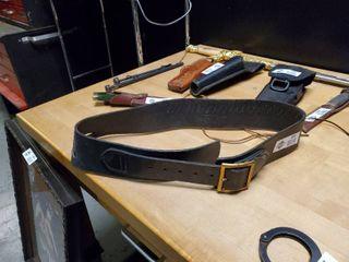 leather  22 Cal Ammo Belt