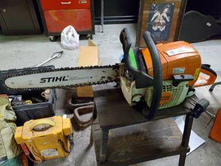 Stihl MS310 gas Chainsaw w  blade guard