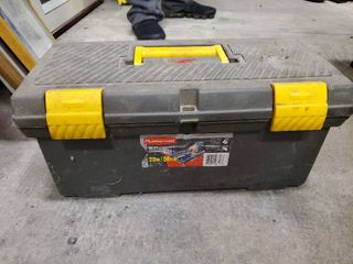 Rubbermaid Toolbox with Contents