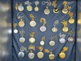 lot of 25 Pocket Watches w  Chains