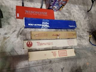 lot of Empty Rifle Boxes