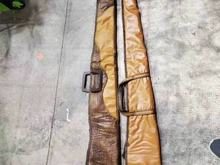 lot of 2 leather long Gun Soft Shell Cases