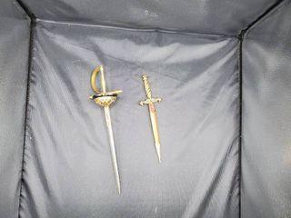 lot of 2 Sword like letter Openers