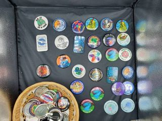 lot of Assorted Wichita Riverfest Buttons and Misc  Buttons