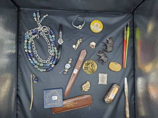 lot of Costume Jewelry  Knick Knacks and Misc  Pins