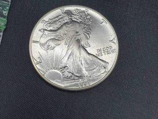 1991 USA Walking liberty 1 Oz Silver Dollar
