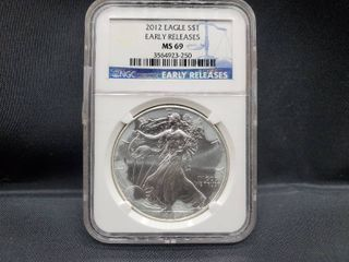 2012 SIlVER EAGlE NGC MS69 EARlY RElEASES