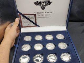 North American National Fishing Grand Slam  999 Silver  24  1 Oz