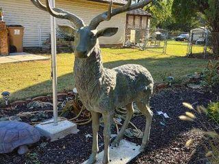 lifesize Bronze Statue  Big deer Buck w  Huge Rack