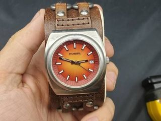 Men s Fossil Wristwatch with leather Band