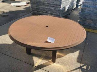56  Aluminum Slat Top Kona Patio Table