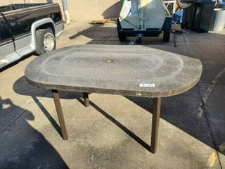 Textured Outdoor Patio Table